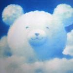 青空に白いクマ