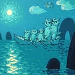 月夜のハッピーファミリー